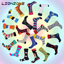 2018 New Arrived Brand Men Socks Funny 22 Colors British Style Designer Happy Socks Cotton Long