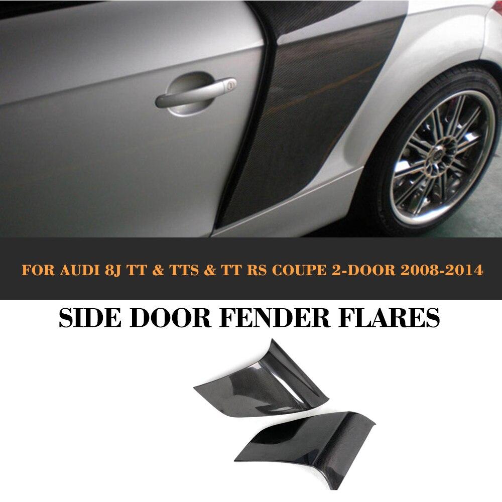 Carbon Fiber Rear Side Door Fender Car guard board for Audi TT 8J TTS TTRS TT S Line Coupe 2 Door 07-14 R8 Style игрушка pitstop audi tt coupe blue ps 444004 b