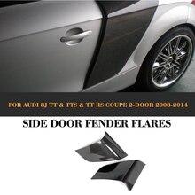 цена на Carbon Fiber Rear Side Door Fender Car guard board for Audi TT 8J TTS TTRS TT S Line Coupe 2 Door 07-14 Non for R8