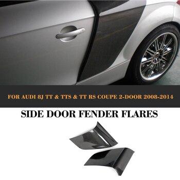Carbon Fiber Rear Side Door Fender Car guard board for Audi TT 8J TTS TTRS TT S Line Coupe 2 Door 07-14 R8 Style jc 20130709 1