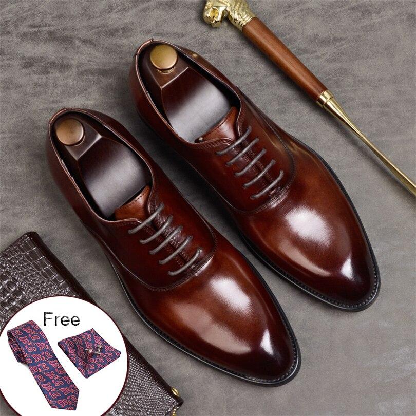 Men's Shoes Motivated Designer Snake Skin Formal Leather Men Shoes Crocodile Pattern Dress Wedding Male Footwear Pointed Toe Brogue Oxfords For Men Formal Shoes
