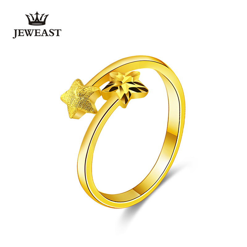 24K Pure Gold Ring Real AU 999 Solid Gold Rings Simple Fashion Star Upscale Trendy Classic Party Fine Jewelry Hot Sell New 201824K Pure Gold Ring Real AU 999 Solid Gold Rings Simple Fashion Star Upscale Trendy Classic Party Fine Jewelry Hot Sell New 2018