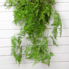 Wholesale Polygonatum artificial plants Pine fern leaves Hanging rattan decorative vine plant wall Christmas decoration flower(China)
