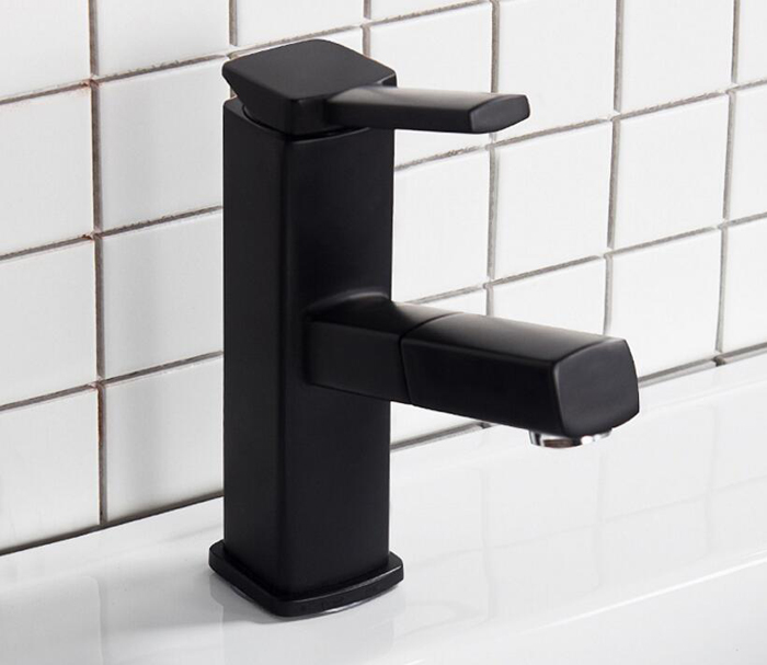 Черный медный водопад, смеситель для ванной комнаты, кран для раковины, смеситель горячей и холодной воды, латунный кран для туалета BF679