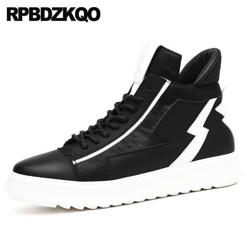 Waterproof Boots Black High Sole Autumn Trainer Outdoor Lace Up Platform Sneakers Booties Men Shoes Thick Soled Top Harajuku