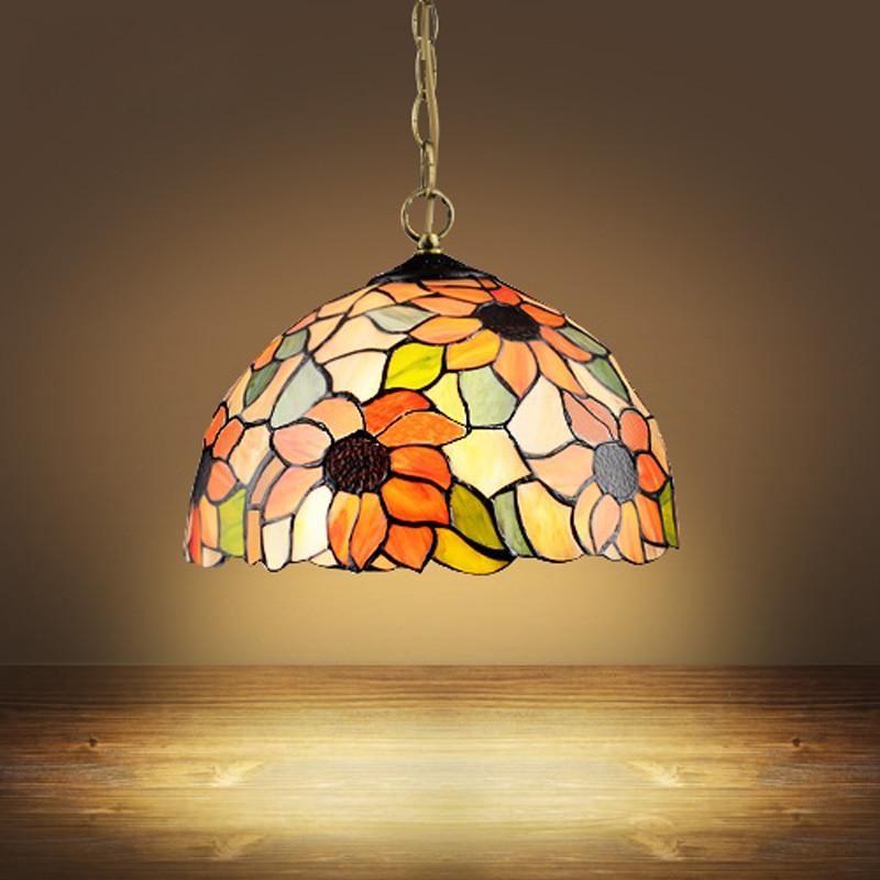 Tiffany European style garden style lighting restaurant bedroom balcony bar single head lamp