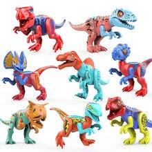 Big Size Jurassic Dinosaur Blocks Bricks Music Dinosaurs Building Educational Toys for Children Gift