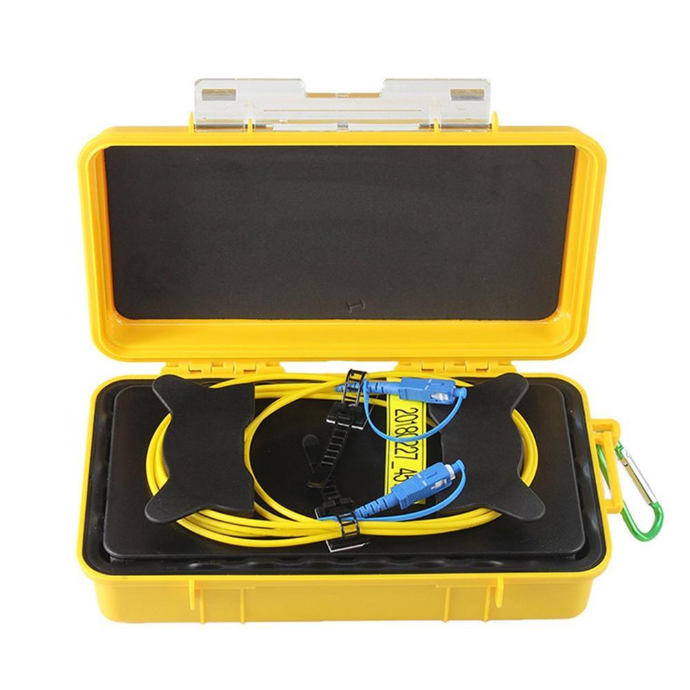 SC/UPC Профессиональный одиночный режим 2000 м OTDR пусковой кабель коробка кольцо с плетением OTDR Запуск волоконно-оптический кабель - Цвет: Светло-голубой