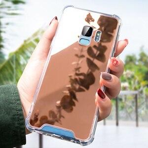 Image 4 - CASEIER Luxe Miroir étuis pour samsung Galaxy S7 S8 S9 S10 Paillettes Miroir étui pour samsung S10 S10 Plus S10E Couverture Funda