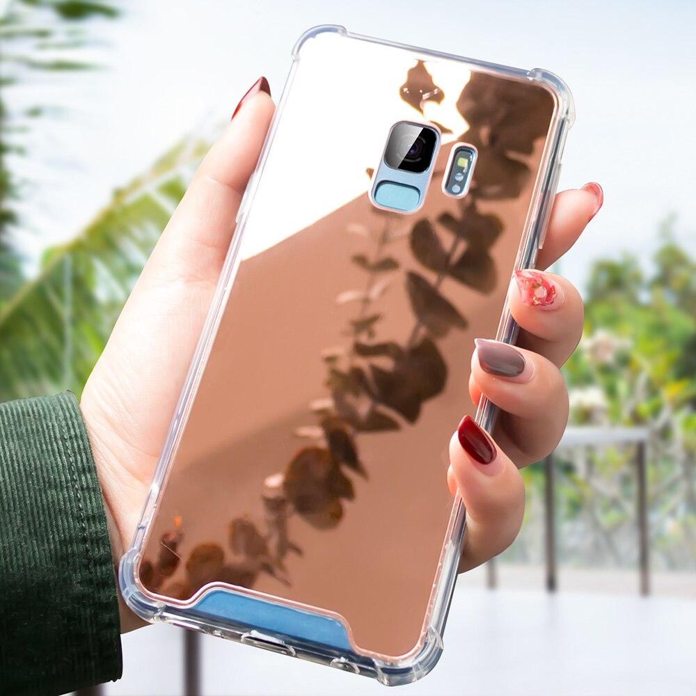 Image 4 - CASEIER Luxury Mirror Cases For Samsung Galaxy S7 S8 S9 S10 Glitter Mirror Back Case For Samsung S10 S10 Plus S10E Cover Funda-in Подходящие чехлы from Мобильные телефоны и телекоммуникации