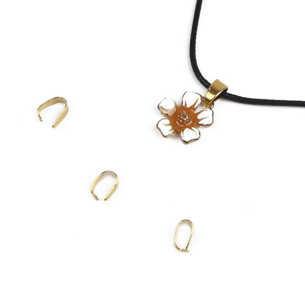 100 sztuk 4*9mm złoty srebrny odcień brązu wisiorek szczypta instrumentu umorzenia lub konwersji długu klamrami dla naszyjnik DIY bransoletka biżuteria ustalenia akcesoria