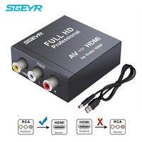 RCA AV to HDMI Converter 1080P RCA Composite CVBS AV to HDMI Video Audio SGEYR AV2HDMI Converter PAL/NTSC Metal Shell for TV PC