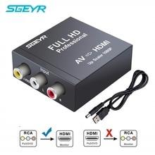 RCA AV to HDMI Converter 1080P RCA Composite CVBS AV to HDMI Video Audio SGEYR AV2HDMI Converter PAL/NTSC Metal Shell for TV PC цена
