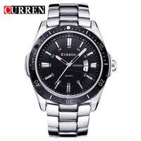 CURREN Top Brand Luxury Fashion Casual Business Quartz Men Watches Display Date Full Steel Band Wristwatch