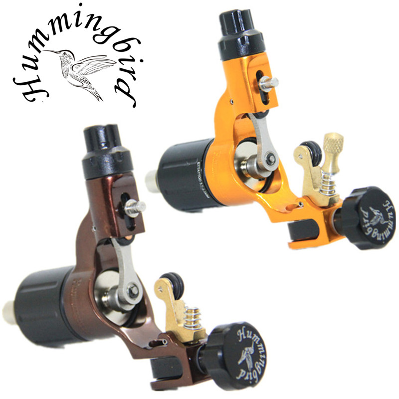 Pro 2 pcs Gold&Coffee Hummingbird V2 Original Swiss Motor Rotary Tattoo Machine Gun kit liner shader for cord шприц одноразовый 20 мл n5
