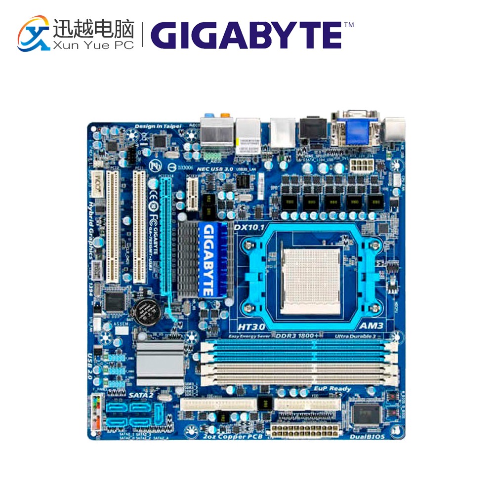 Gigabyte GA-785GMT-USB3 Desktop Motherboard MA785GMT-USB3 785G Socket AM3 DDR3 SATA2 USB2.0 Micro ATX gigabyte ga ma770t us3 desktop motherboard 770 socket am3 ddr3 sata2 usb2 0 atx
