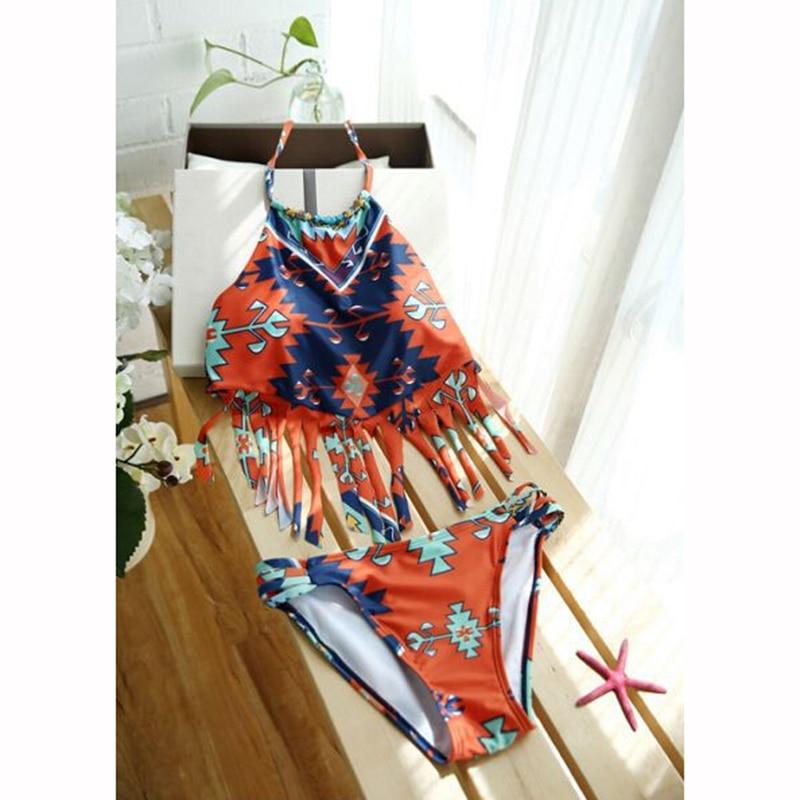 StarHonor Summer Style Bohemia Bikinis Set Tassle Trajes de dos - Ropa deportiva y accesorios - foto 5