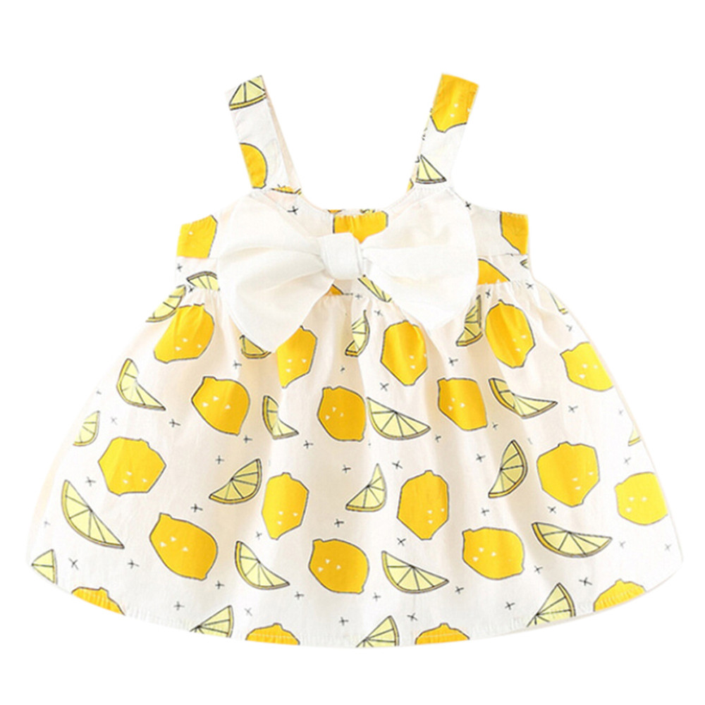 ARLONEET Fashion Baby Girl Dress Clothes Girls Sleeveless Fruits Clothes Party Princess Dress 0 to 2 Years Drop Shipping 30S426 ...