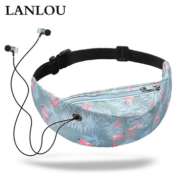 LANLOU waterproof women waist bag High Quality girls Travelling Fanny Pack Mobile Phone Waist Pack for women designer Belt bags