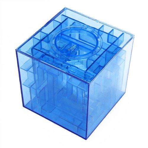 1pcs wholesale new money maze coin box 3d puzzle saving for Home money box