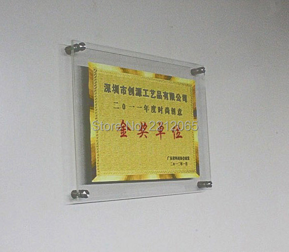 A4 Wall Mounted Acrylic Plexiglass Floating Frames For Poster