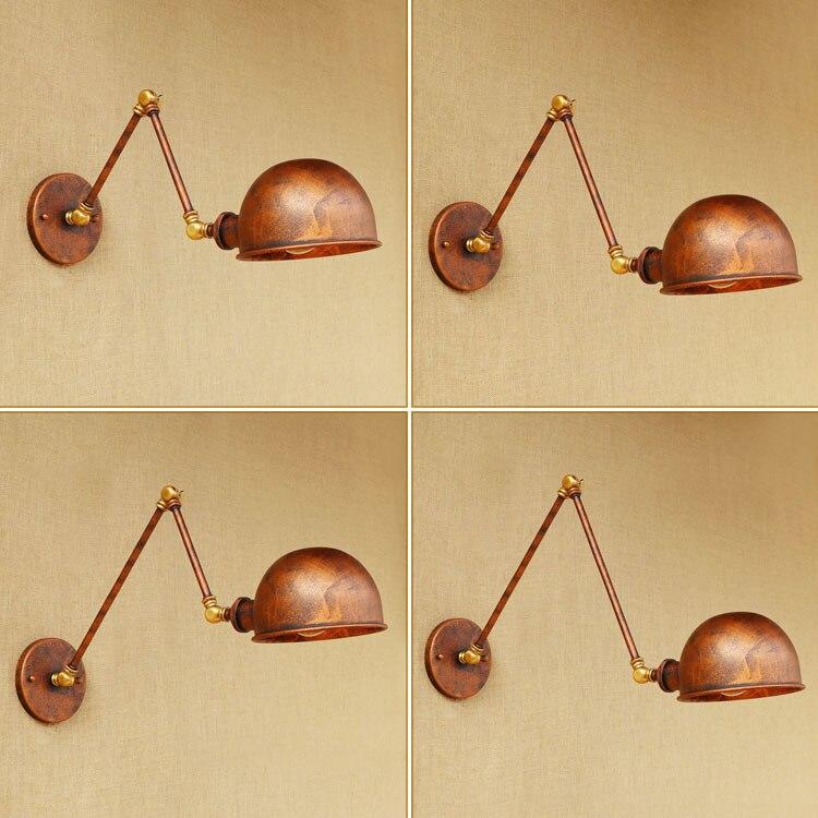 Folding Wall Lamp Arm Mounted Kitchen Sconces Vintage Light Long Luminaire Lampe Iron Art Rh Creative Rust Color Bar Shop 4121200 k06n c1 great wall h3 fr combination lamp assy rh