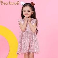 Bear Leader Girls Dress 2018 New Summer Brand Girls Clothes Lace Petal Sleeve Design Baby Girls