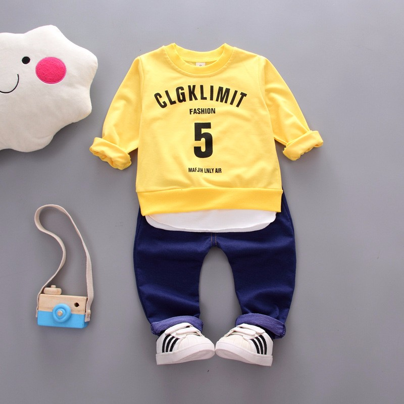 Kids Autumn Clothes Cotton Letter 5 Printed Boys T-shirt Set Casual Children Clothing Girl Winter Clothes For Kids baby clothes всепогодная акустика klipsch cp 6t white