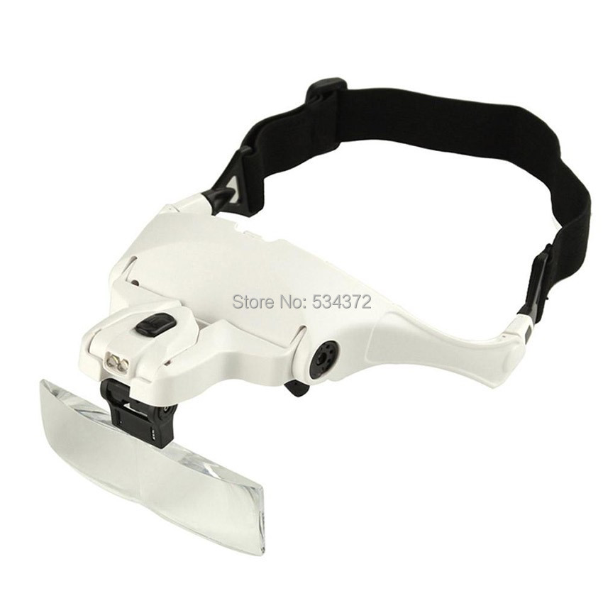 1.0X 1.5X 2.0X 2.5X 3.5X 5 Lens Adjustable Loupe Headband Magnifying Glass Magnifier for lip/eyebrow permanent makeup tattoo