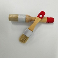 2 PC Cauda Vermelha Punho De Madeira Pintura Giz conjunto de ferramentas de Mão Pontas Escova de Cerdas Pintura A Óleo Giz de Cera Escova Artista fontes da arte|Conjs. ferramentas de pintura|Ferramenta -