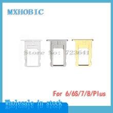 50 ピース/ロット SIM カードトレイスロットホルダー iPhone 6 6 プラス 6S 7 8 プラス × ゴールド/ シルバー/グレー修理交換部品
