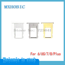 50pcs/lot SIM Card Tray Slot Holder For iPhone 6 6plus 6S 7 8 Plus X Gold/Silver/Gray Repair Replacement Parts