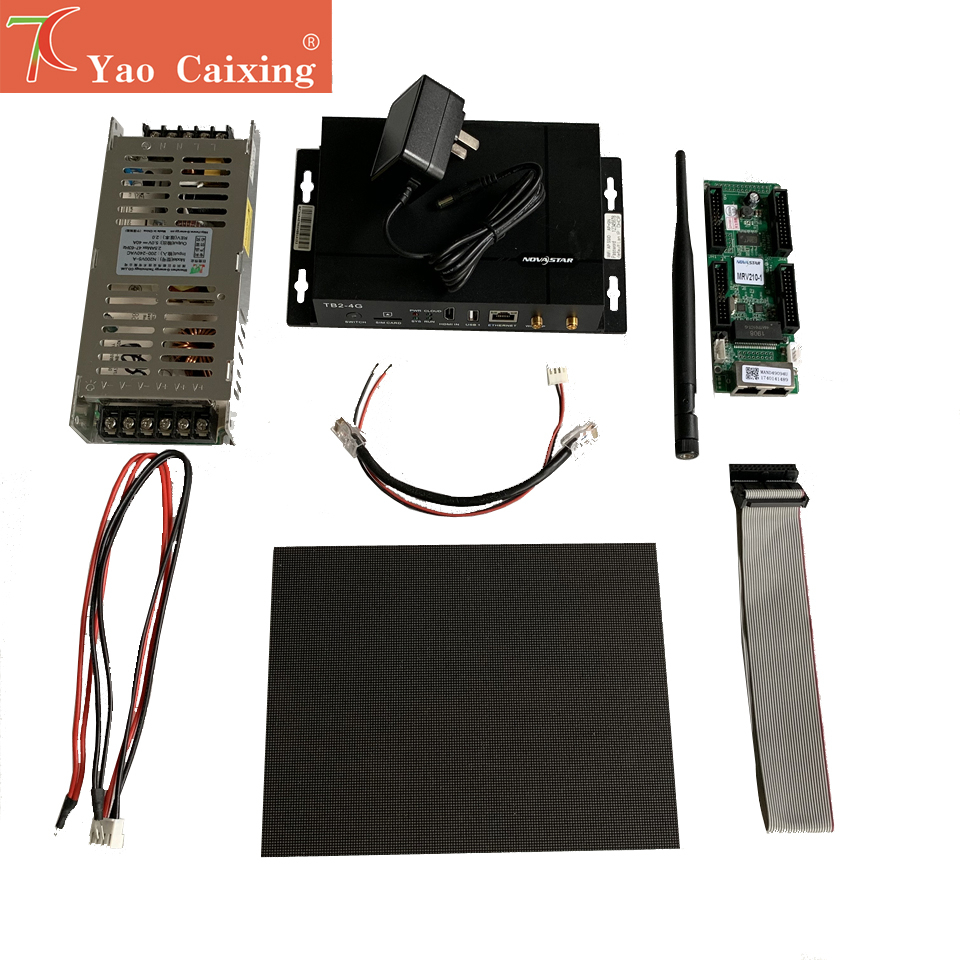 Free Shipping P1.56 Indoor Panel With Novastar TB2 Wifi Controller ,MRV210 Receiving Card , Slim Power Supply