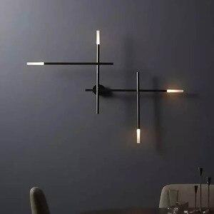 Image 5 - Moderne nordique fer ligne de tuyau LED applique chevet veilleuse chambre salon allée applique luminaire mural décor Art