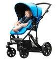 Carrinho de bebê de alta paisagem carrinho de bebê rodada carrinho de suspensão pode sentar mentindo carrinho de criança