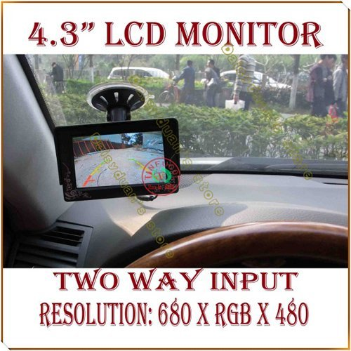 """4.3"""" 4.3 inch TFT LCD Sucker fixed Color Car Rearview Monitor for Car Reverse camera"""