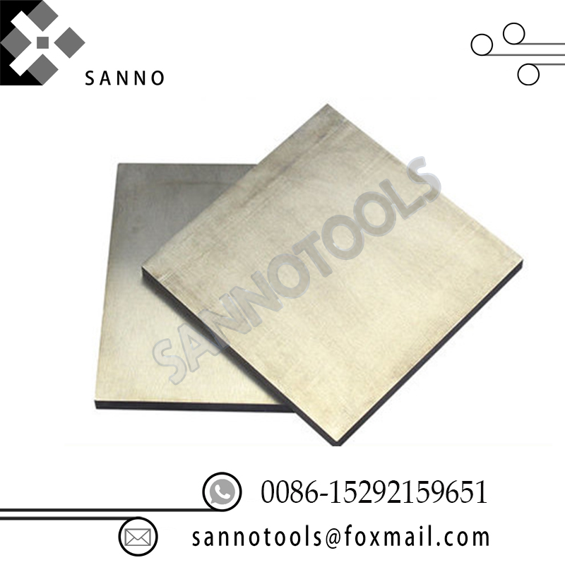 Free shipping! silver gray tungsten plate YG8 YG15 YG20 hot rolled steel plate tungsten carbide sheet for industrial machinary tungsten cemente carbide sheet tungsten cohalt steel wc co alloy board yg15 yg20 iso k40 diy mould cnc metal process plate