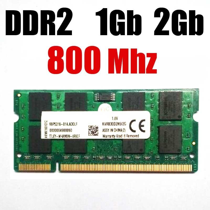 Памяць для ноўтбука ddr2 800MHz / 800 2Gb 1Gb ddr 2 1G 2G / sodimm ddr2 Памяць RAM - гарантыя жыцця - добрая якасць