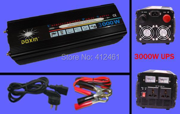 12v 220 3000w Inverter, UPS Inverter With City Power Priority Battery Second & EMS DHL free shipping