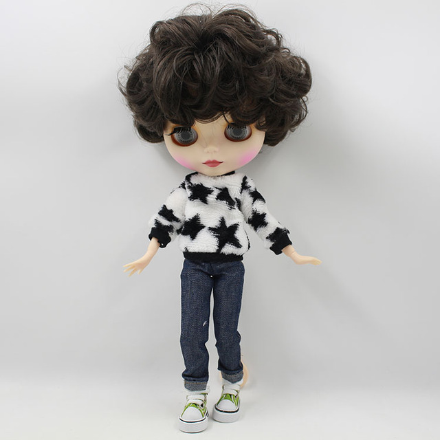 ICY Neo Blythe Doll Black Short Hair Jointed Body