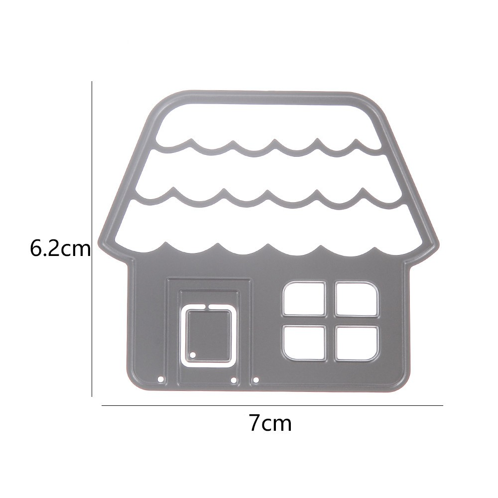 Swovo House Building Frame Metal Cutting Dies Stencils for DIY Hands-on Scrapbooking Album Paper Photo Card Cut Decorative Craft