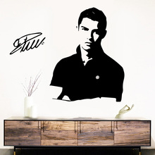 Free Shipping Football player Cristiano Ronaldo Vinyl Decals Wall Art Decoration Sticker For Kids Room Home Murals