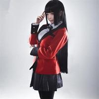 Anime Kakegurui Jabami Yumeko Cosplay Costumes Women Sexy School Uniform
