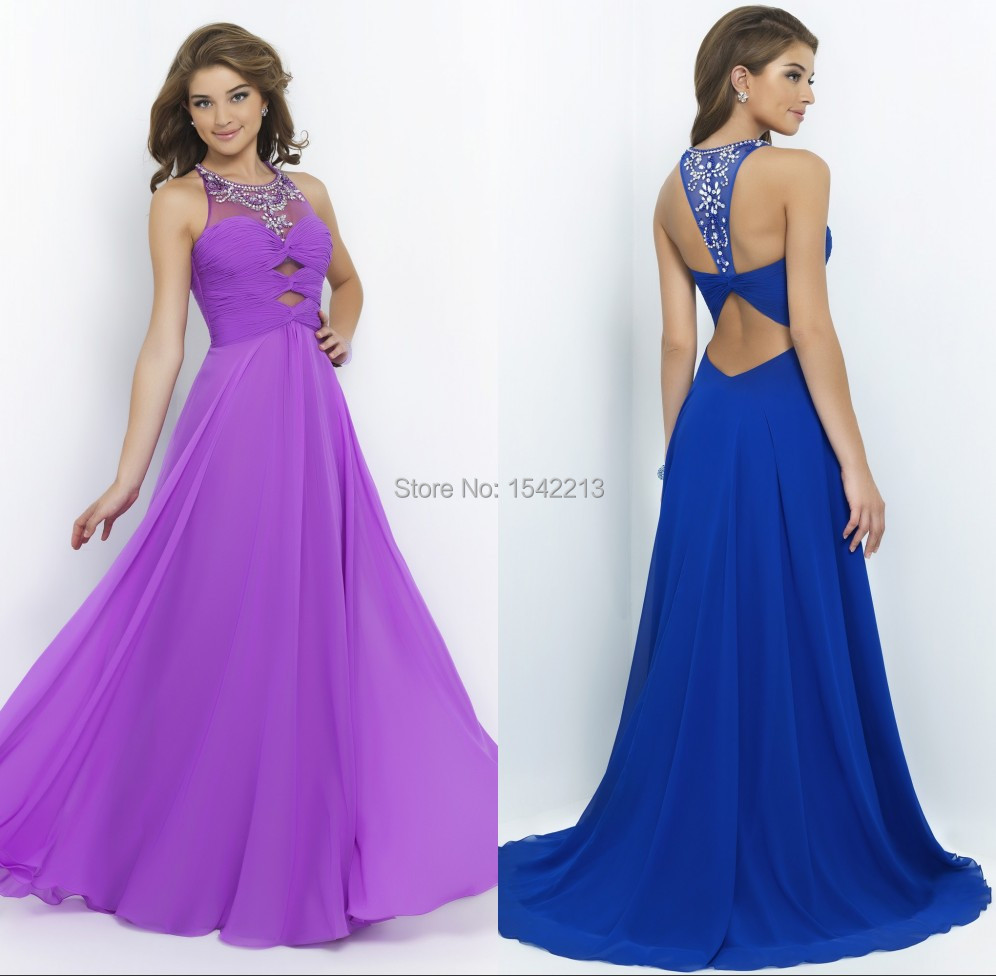 Royal Blue and Purple Dresses
