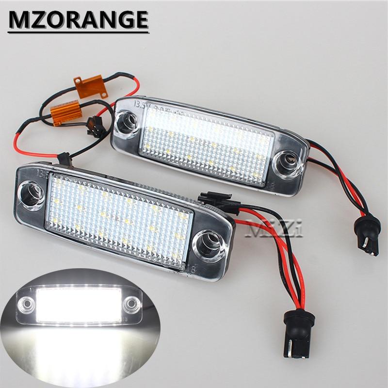 MZORANGE 1 Pair For KIA Sorento R Sorento MX 2010 2015 18LED Car License Plate Light