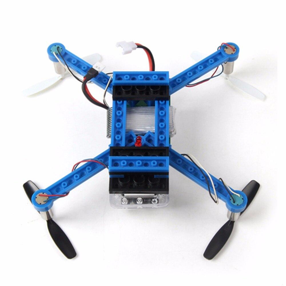 2.4กรัม4CHแกนGyroมินิDIYอาคารบล็อกQ DIY Uadcopterสีฟ้า/สีขาว X-101