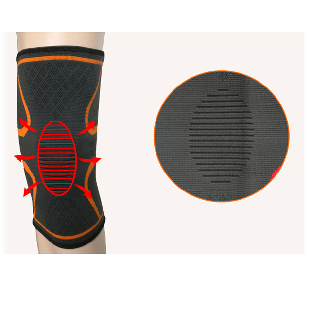 1pc Nylon Elastic Sports Knee Pads Breathable Knee Support Brace Running Fitness Hiking Cycling Knee Protector Joelheiras Fitness Equipment Sports