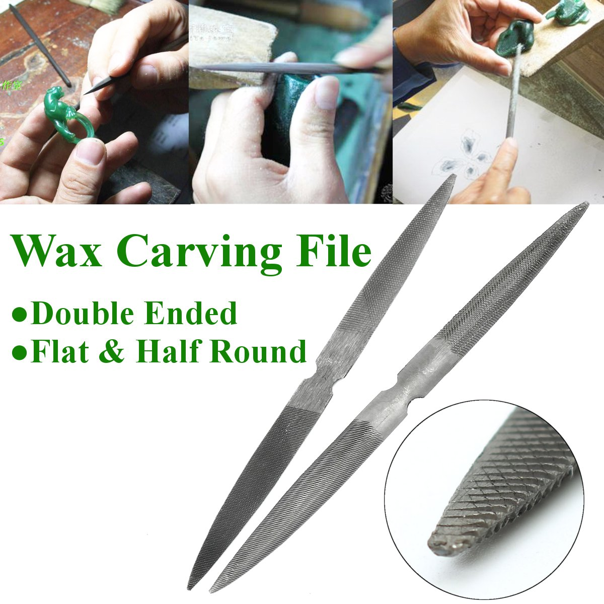 Jewellers Double Ended Wax Carving File GLARDON gh278