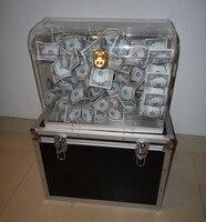 Хрустальный денежный сундук пустая коробка появляющаяся деньги Волшебные трюки сцена, профессионал, иллюзия, трюк, реквизит, комедия изуми