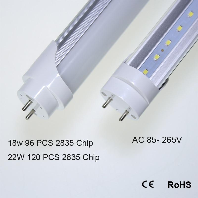 T8 LED Tube Light Bulb ,4FT, 20W,2200LM,4000K (Neutral White),Fluorescent Replacement Light Lamp,Clear Cover t8 led tube 1200mm light 18w120cm 4ft 1 2m g13 with holder fixture high power smd2835 fluorescent replacement 85 265v